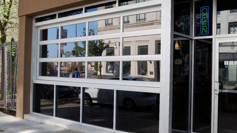 Full-View Aluminum Commercial Door - Garage Door Services, Inc. Omaha, NE Council Bluffs, IA