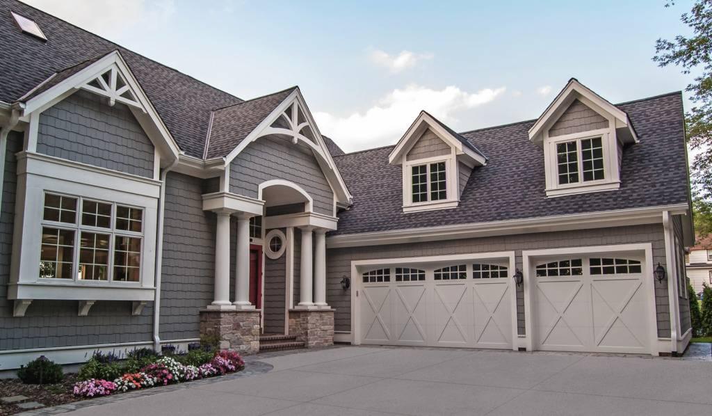 Overlay Carriage House Residential Garage Door - Garage Door Services, Inc.