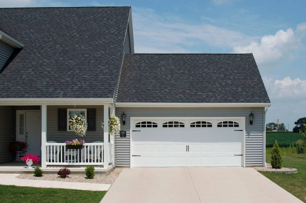 Stamped Carriage House Residential Garage Door - Garage Door Services, Inc.